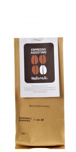 Espresso Agostino Naturale: Regenwald-Kaffee Athiopien 250g